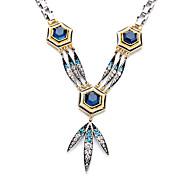 Women's Pendant Necklaces Geometric Chrome Unique Design Personalized Dark Blue Jewelry For Gift Outdoor 1pc