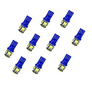 10Pcs T10 5*5050 SMD LED Car Light Bulb Bule  Light DC12V