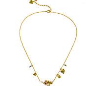 Women's Pendant Necklaces Flower Chrome Unique Design Personalized Gold Jewelry For Housewarming Congratulations Casual 1pc