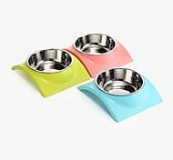 Chat Chien Bols & Bouteilles d'eau Animaux de Compagnie Bols & alimentation Etanche Portable Vert Bleu Rose