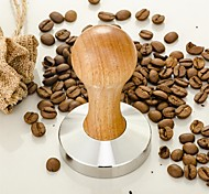 1Pcs  Stainless Steel  58Mm  Coffee Tamper With Wooden Handle Grinder Handmade High Quality