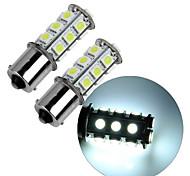 2pcs 1156 18 * 5050smd ha condotto la luce bianca della lampadina dell'automobile dc12v