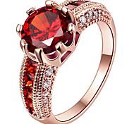 Жен. Обручальное кольцо Массивные кольца Кольцо Цирконий Euramerican бижутерия Мода По заказу покупателя Стерлинговое серебро Позолота