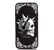 Для яблока iphone 7 7 плюс iphone 6s 6 плюс чехол чехол шаблон черепа 3d рельеф пластиковый корпус корпуса корпуса tpu