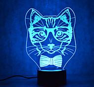 Рождественские кошки черепахи сенсорный затемнения 3d привело ночник 7colorful украшения атмосферы лампа новинка освещение рождественский