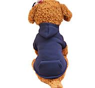 Собаки Толстовки Одежда для собак Весна/осень Однотонный Мода