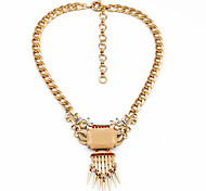 Women's Strands Necklaces Geometric Chrome Unique Design Personalized Beige Jewelry For Gift Outdoor 1pc