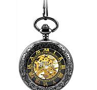 Мужской Часы со скелетом Карманные часы Механические часы С автоподзаводом сплав Группа Черный