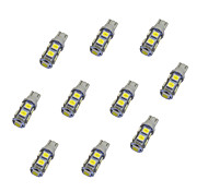 10Pcs T10 9*5050 SMD LED Car Light Bulb White Light DC12V