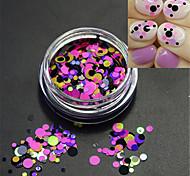 1bottle горячая мода сладкий гвоздь красочные блестка блестка розовый круглый ломтик DIY красоты украшения p15