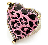 Korean Style Fashion Heart Fuchsia  Adorable Rhinestone  Lady  Love Ring Gift Jewelry