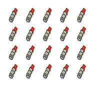 20Pcs T10 9*5050 SMD LED Car Light Bulb Red Light DC12V