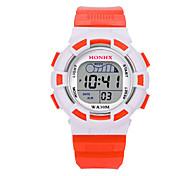 Kids' Sport Watch Digital Watch Chinese Digital Silicone Band Blue Red Orange