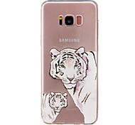 For Samsung Galaxy S8 Plus S8  IMD Transparent Case Back Cover Case Tiger Soft TPU for S7 edge S7 S6 edge S6 S5