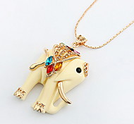 Elephant Pendant Sweater Chain Necklace Women Office Lady Jewelry for Women