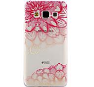 Для samsung galaxy a3 a5 (2017) крышка корпуса диагональ цветочный узор падение клей лак высокое качество tpu материал телефон корпус a3