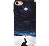 Для apple iphone 7 7 плюс 6s 6 плюс чехол для крышки звезда лунный узор узор наклейка для ухода за кожей touch pc material phone case