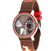 Women's Fashion Watch Quartz Silicone Band Brown Green Purple