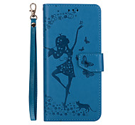 For Samsung Galaxy S8 Plus S8 Phone Case Dancing Girl Embossed Pattern Removable Combo PU Leather Material S7 Edge S7 S6 Edge S6 S5