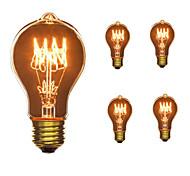 5pcs A19 E27 40W Incandescent Vintage Light Bulb for Household Bar Coffee Shop Hotel AC110-130V