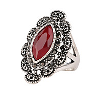 Vintage Ring Turkish Women Accessories Water Drop Big Size Rings Bijoux Antique Finger Ring