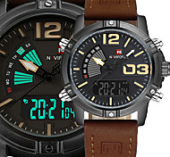 Men's Fashion Sport Watches Men Quartz Analog LED Clock Man Leather Military Waterproof Watch Relogio Masculino