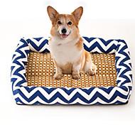 Cat Dog Bed Pet Mats & Pads Stripe Breathable Soft Elastic Durable Blue Dark Blue Orange