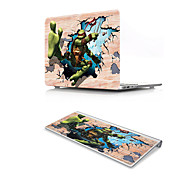 For MacBook Air 11 13 Pro Retina 13 15 Macbook 12 Case Cover PVC Material Oil Painting 3D Cartoon with US Silicone Keyboard Protector