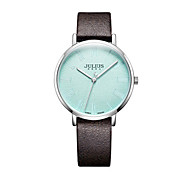 Women's Fashion Watch Japanese Quartz Water Resistant / Water Proof Leather Band Black White Red Brown Grey