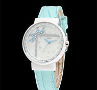 Women's Fashion Watch Quartz Leather Band Blue Pink