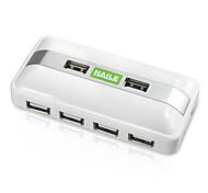 Хай-ха-05 белый мини-квадрат 7-портовый USB-концентратор с кабелем 80 см