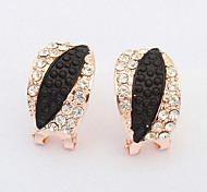 The European and American fashion imitation leaf earrings