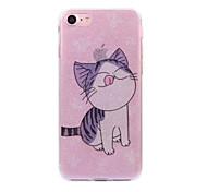 Для apple iphone 7 7plus case cove cat pattern flash порошок imd процесс tpu материал телефон чехол iphone 6 6s плюс se 5s 5