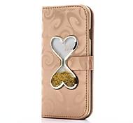 Для iphone 7 7 плюс чехол чехол карты держатель кошелек с подставкой сердце сдвигающаяся песочная воронка флип pu кожаный чехол для iphone