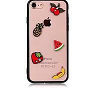 Чехол для Apple iphone 7 7 плюс iphone 6s 6 плюс чехол для крышки с фруктовым рисунком с акриловыми футлярами