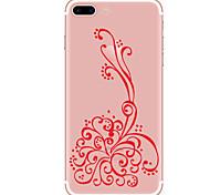 Per Custodie cover Transparente Fantasia/disegno Custodia posteriore Custodia Cartoni animati Fiore decorativo Morbido TPU per Apple