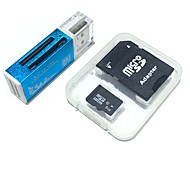 8GB MicroSDHC TF Memory Card with all in one USB Card Reader and SDHC SD Adapter