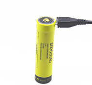 SUNWALK 3000mAh 18650 Ni-MH NiMH Rechargeable Battery with Micro USB Rechargeable Pre-Charged Batteries