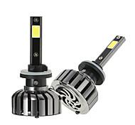 Kkmoon paire de lampes 880 cc 12v 40w 4000lm 6000k led phare lampe ampoules