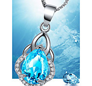 May Polly   Sapphire Crystal Pendant Necklace