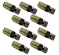 10PCS/Lot  T10 W5W / BA9S T4W  48SMD 3014 Wide Light License Plate Reading Light 12V Warm White / White 2W