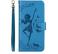 Для iphone 7 плюс 7 телефонная сумка для танцев девушка тисненый узор съемный комбо pu кожаный материал 6s плюс 6s 6 se 5s 5