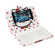 Для крышки корпуса с подставкой с клавиатурой флип-шаблона полный корпус корпуса мультфильм жесткая кожа pu для универсального iphone 7 7