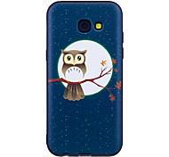 Für samsung galaxy a3 (2017) a5 (2017) case cover eule muster gemaltes geprägtes fühlgerät tpu soft case phone case a3 (2016) a5 (2016)