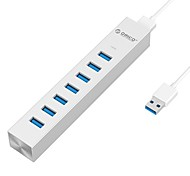 ORICO ASH7-U3 Silver Type-C USB3.0 Super-Speed HUB 7-Port with 100CM Cable
