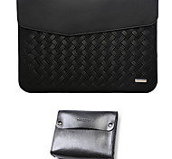 For MacBook Pro Air 11 12  Inch Sleeves PU Leather Simple Portable Notebook Bag Solid Color Laptop Sleeves 12