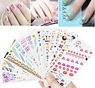 15PCS Nail Art Sticker  Water Transfer Sticker Makeup Cosmetic Nail Art Design  Pattern Rando