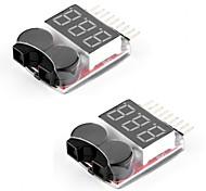 2 пачки rc lipo battery monitor alarm tester checker сигнализация с низким напряжением зуммера с индикатором светодиода для литий-ионной