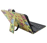 Назначение Чехлы панели со стендом с клавиатурой Флип С узором Чехол Кейс для Мультипликация Сова Твердый Искусственная кожа для Apple