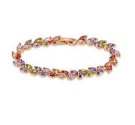 18k oro / plata joyas de cristal pulsera brazalete para dama